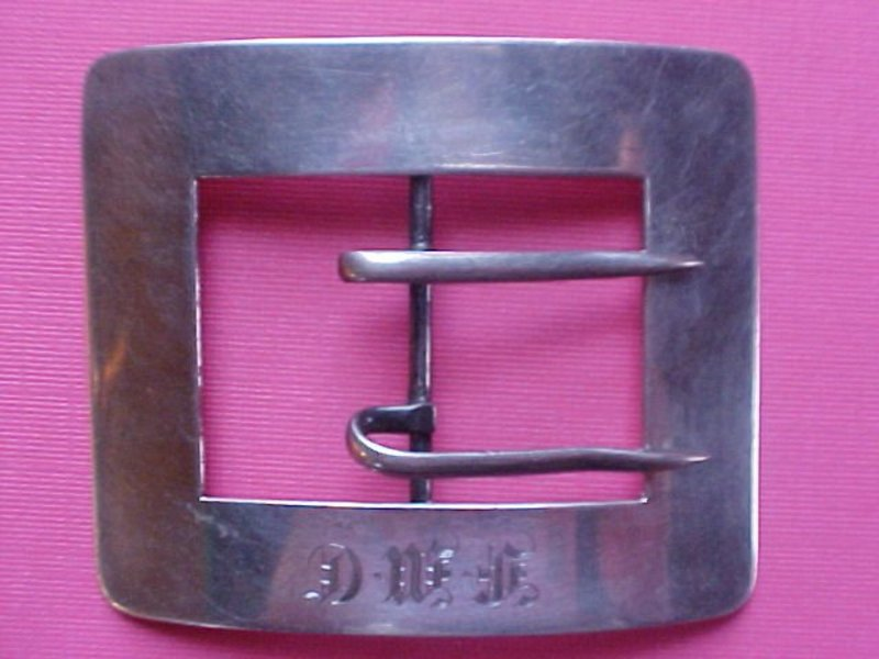 VICTORIAN STERLING SILVER SASH BELT BUCKLE