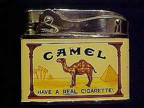 CAMEL CIGARETTES ADVERTISING CIGARETTE LIGHTER  1960's