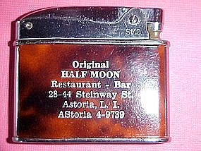1950's CIGARETTE LIGHTER ORIGINAL HALF MOON RESTAURANT