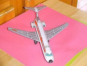 TIN FRICTION 1960'S TWA AIRLINES BOEING 727 AIRPLANE