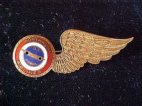 NORTHWEST AIRLINES STEWARDESS WINGS/U.S.  AIRMAIL 1950s