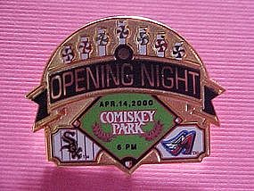 COMISKEY PARK OPENING NIGHT WHITE SOX PIN APR. 14, 2000
