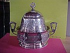 PAIRPOINT SILVER PLATE COVERED BUTTER DISH VICTORIAN