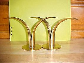 ART MODERNE THE HONST YSTAD SWEDEN BRASS CANDLESTICK PR