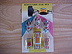 MINIATURE TIN LITHO RACING CAR SET MADE IN JAPAN 1970'S