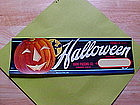 HALLOWEEN FRUIT CRATE LABEL 1950 WITCH JACK-O-LANTERN