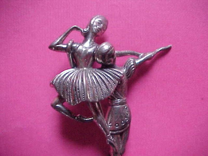 1950's BEAU STERLING BALLET DANCERS PIN