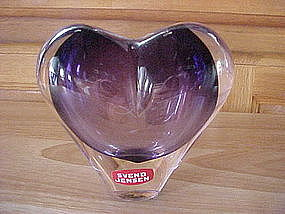 SVEND JENSEN AMETHYST CRYSTAL HEART SHAPED BANK