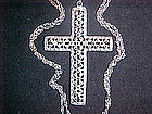 STERLING SILVER & MARCASITE CROSS GERMANY