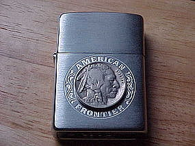 ZIPPO AMERICAN FRONTIER CAGARETTE LIGHTER W/INDIAN HEAD