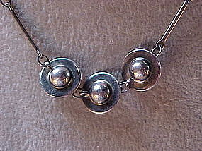 UNO A ERRE O.P. ORLANDINI STERLING UFO NECKLACE