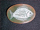 FIFTIES HAND PAINTED ENAMEL FISH ON COPPER PIN