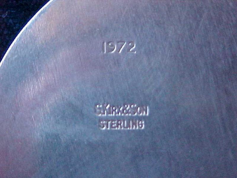 S.KIRK & SON STERLING CHERUB BLOWING HORN PENDANT
