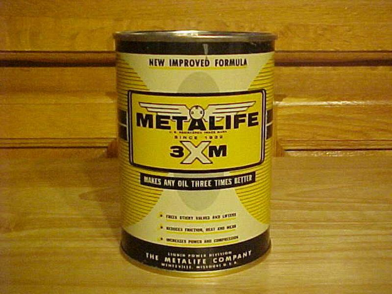 METALIFE OIL CAN BANK PETROLIUM ADDITIVE 1950's
