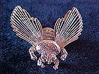 MONET SILVER TONE FLY PIN 1960's