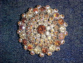 WEISS A/B RHINESTONE AUTUMN BROOCH PIN