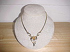 VINTAGE TRIFARI GOLD PLATED RHINESTONE NECKLACE