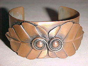 REBAJES  TWIN LEAF COPPER BRACELET 1950s