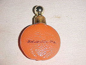 ORANGE FRUIT FIGURAL GERMAN PERFUME BOTTLE EARLY 1900S