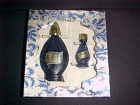 EVENING IN PARIS COLOGNE & TOILETTE COBALT BLUE BOTTLE