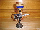 VINTAGE FIGURAL BOTTLE OPENER & STAND ELECTRIC GUITAR
