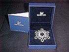 SWAROVSKI 2005 CHRISTMAS STAR SNOW FLAKE BROOCH
