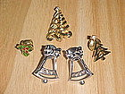 CHRISTMAS PIN LOT 5 PIECES