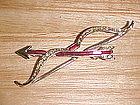 VINTAGE VALENTINE BOW & ARROW RHINESTONE PIN