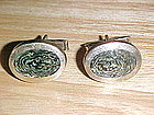 VINTAGE TAXCO SILVER & ABALONE MENS CUFFLINKS
