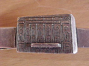 VINTAGE HENRY MILLER THEATER STERLING SILVER TIE BAR