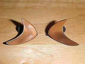 VINTAGE KIM COPPER EARRINGS MODERNE