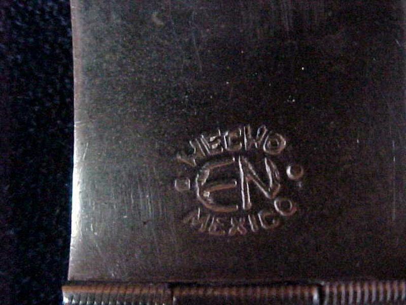 VINTAGE TAXCO SILVER & MIXED METAL AZTEC BRACELET