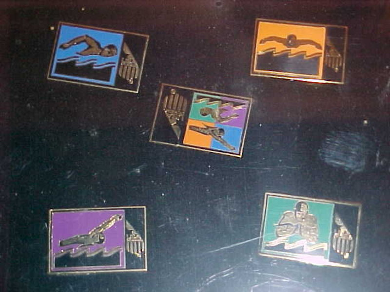 1996 OLYMPIC PINS SUMMER GAMES ATLANTA SWIMMING