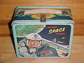 COLONEL ED McCAULEY SPACE EXPLORER LUNCH BOX ALADDIN