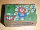 VINTAGE CLOISONNE STICK MATCH BOX HOLDER
