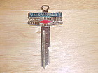 VINTAGE CHEVY CHEVROLET BOW TIE CREST KEY BLANK