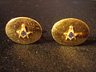 VINTAGE GOLD FILLED  MASONIC CUFFLINKS