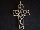 VINTAGE SIGNED CARL ART STERLING SILVER CROSS ABSTRACT