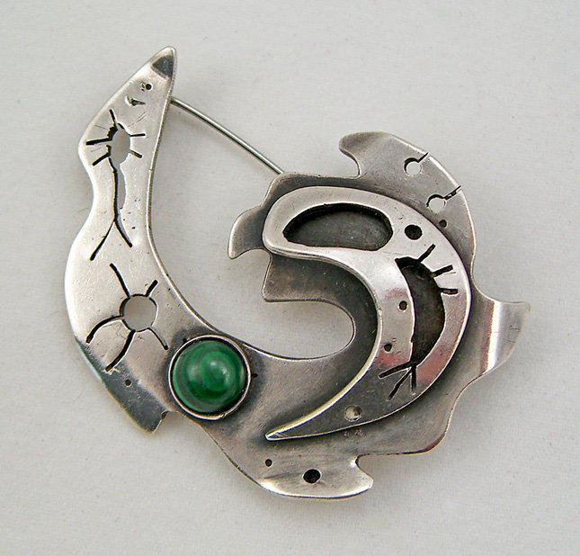Tobias Musicant Modernist Sterling Brooch