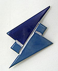 Art Deco Celluloid Machine Age Modernist Brooch