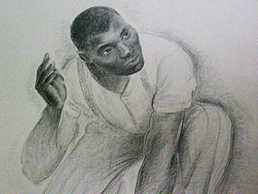 G. Ralph Smith African American Man WPA Drawing