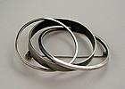 Bill Tendler Modernist Sterling Silver Circle Brooch