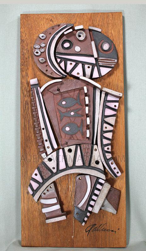 Raymond Gallucci Ceramic Collage Tile Sculpture