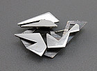 Ray Urban Modernist Sterling Brooch Fausing Denmark