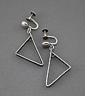 Irena Bryner Modernist Sterling Silver Earrings