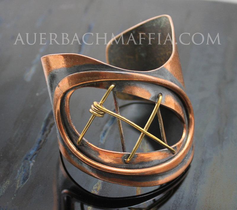 Art Smith Modernist Copper & Brass Cuff Bracelet