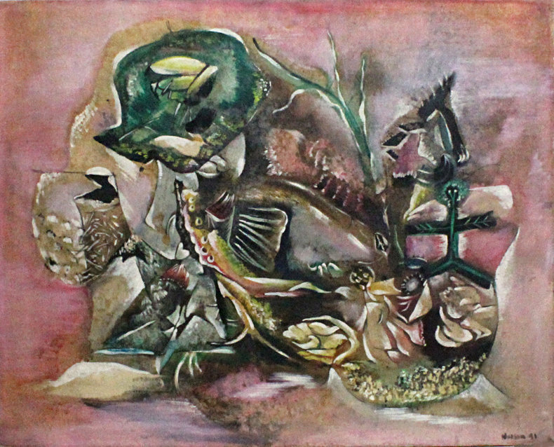 Ralph Nelson American Modernist Abstract Painting