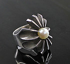 Russell Secrest Modernist Sterling Ring