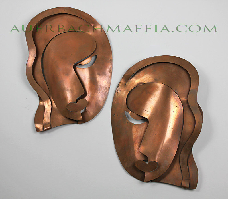 Rebajes Modernist Wall Masks - 1950's