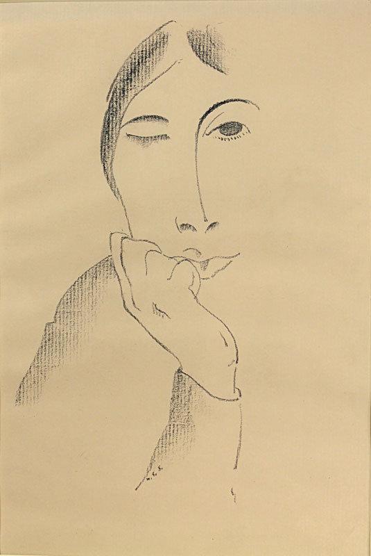 William Samuel Schwartz Modernist Deco Portrait - 1930